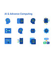 ai artificial intelligence advance computing icon vector image
