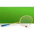 Badminton rocket and shuttlecock vector image vector image