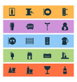 beverages icons set with bar tavern tap and vector image vector image