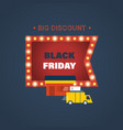 black friday discount special offers on shopping vector image vector image