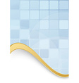 Blue tiles - abstract modern folder template vector image vector image