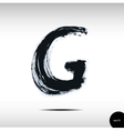 Calligraphic watercolor letter G vector image vector image