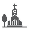 church glyph icon religion and building chapel vector image vector image