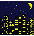 city in night vector image vector image