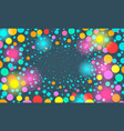 colorful festive background with confetti vector image