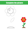 complete the picture children educational game vector image