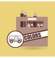 concept bus school color box desing vector image vector image