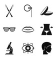 corpus icons set simple style vector image vector image