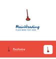 creative broom logo design flat color logo place vector image vector image