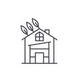 eco house line icon concept eco house vector image vector image