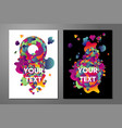 experimental art poster templates with trendy vector image