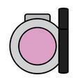 eyelash and blush make up drawing vector image vector image