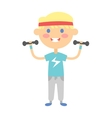 Fitness kid girl vector image vector image