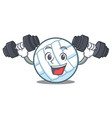 fitness volley ball character cartoon vector image