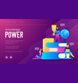 flat design style web banner for the power of vector image vector image
