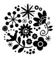 floral folk art design - mandala