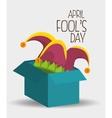 fools day design vector image vector image