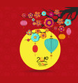 full moon background for traditional of chinese vector image vector image