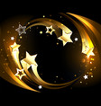 glowing background with golden comets vector image vector image