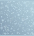 gray winter background with flay snowflakes vector image vector image