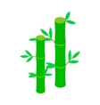 Green bamboo stem icon isometric 3d style vector image