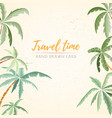 hand drawn holiday travel card vector image vector image