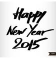 Handwritten calligraphic watercolor Happy New Year vector image vector image