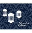 Hanging arabic lanterns for Ramadan Kareem holiday vector image vector image