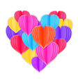 heart made from paper hearts vector image vector image