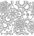 Henna mehndi floral pattern vector image