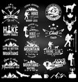 hiking club badge vector image