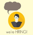 HIRING1 resize vector image vector image