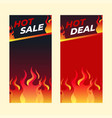 hot sale banner template special offer shopping vector image vector image