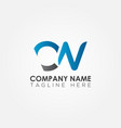 initial cn letter logo with creative modern vector image vector image