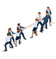 isometric businessmen and businesswomen in suit vector image