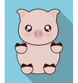 Kawaii pig icon Cute animal graphic vector image vector image