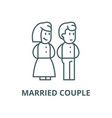 married couple line icon linear concept vector image vector image