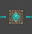 Monogram logo template design vector image vector image