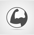 muscle icon gym design and street workout symbol vector image