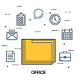 office folder file archive organization document vector image