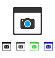 photo camera calendar page flat icon vector image vector image