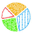 pie chart mosaic of triangles vector image vector image