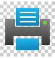 printer gradient icon vector image