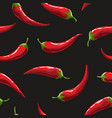 red hot chili pepper seamless pattern vector image vector image