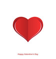 red paper origami heart happy valentines day card vector image vector image