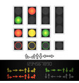 road traffic light realistic led panel vector image