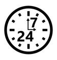 schedule organization store clock vector image