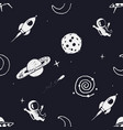 seamless pattern with space objects vector image vector image