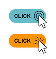 set of click here button with cursor icon