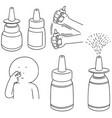 set of nasal medicine vector image vector image